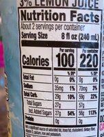Lemonade - Nutrition facts - en