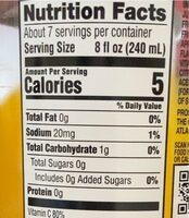 Zerosugar - Valori nutrizionali - en