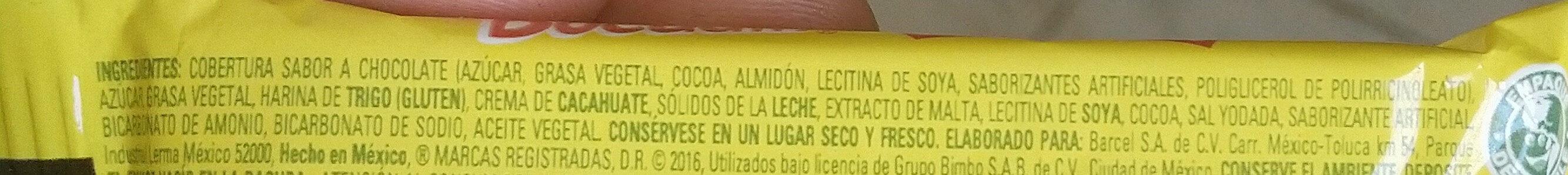 Bocadín - Ingredientes - es