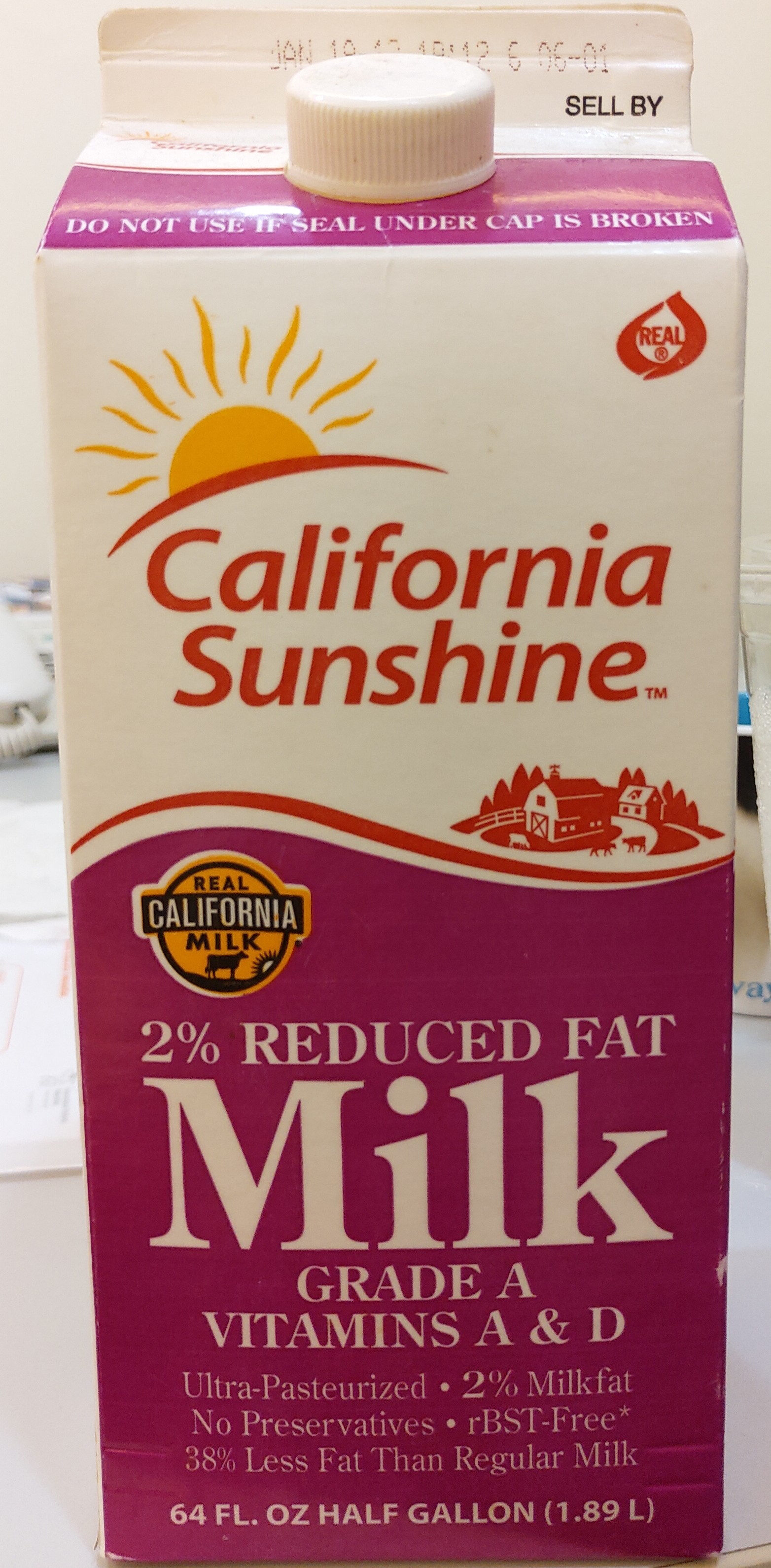 Reduced fat milk - Product