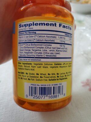 ester-C - Ingredients - en