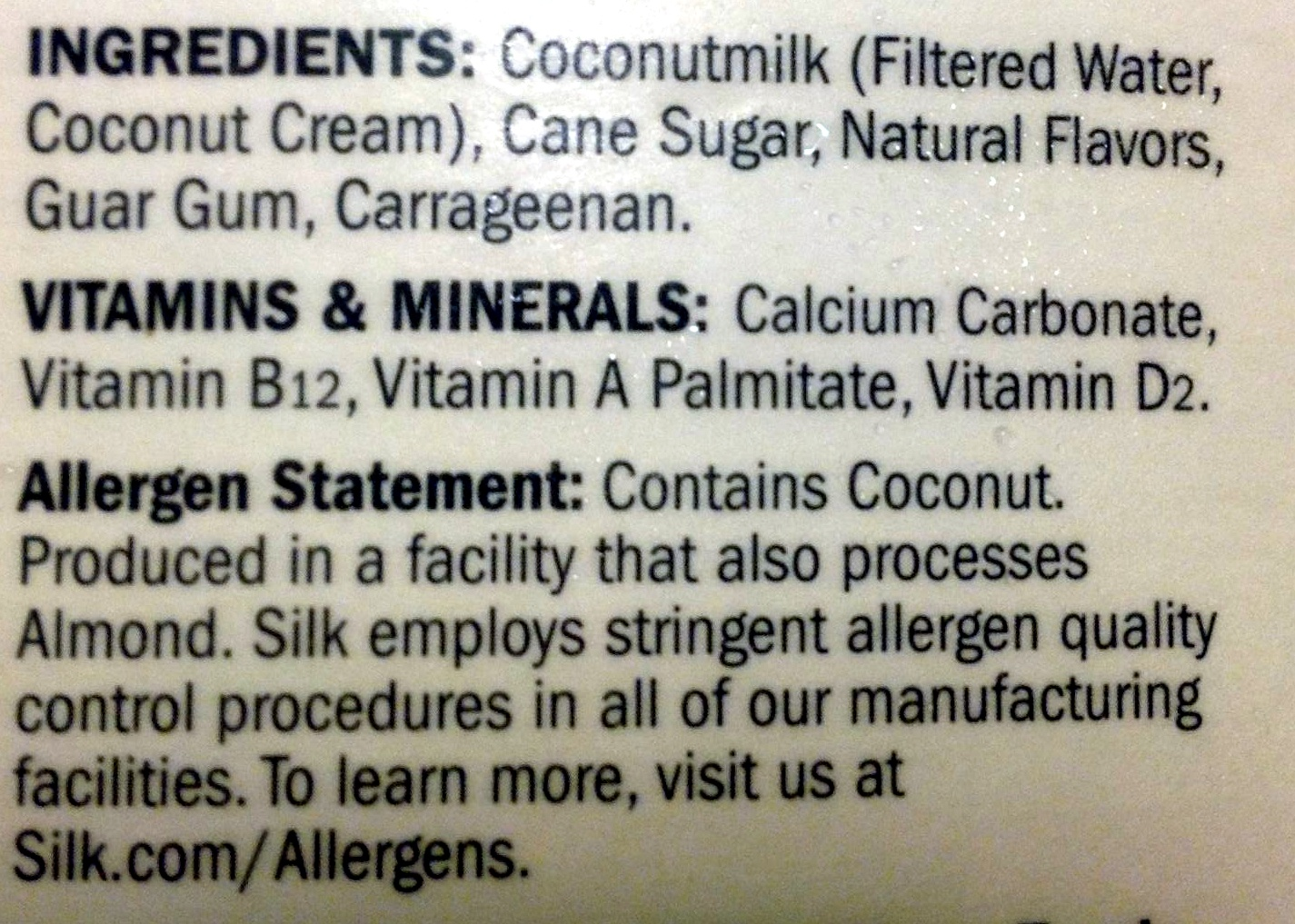 Coconutmilk - Ingredients - en