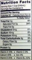 Coconutmilk - Nutrition facts - en