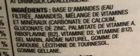 Lait d'amandes - Ingredients - fr