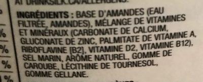 Lait d'amandes - Ingredients