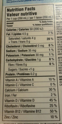 Unsweetened Coconut Original - Nutrition facts - en