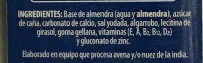 Leche Almendra - Ingrédients