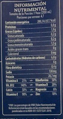 Leche Almendra - Informations nutritionnelles