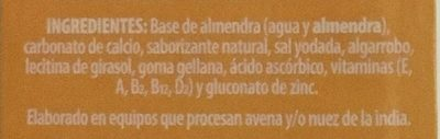 Alimento líquido con almendra sabor vainilla - Ingrédients