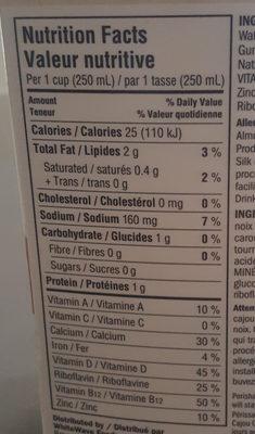 CreamyCashew original - Informations nutritionnelles - fr