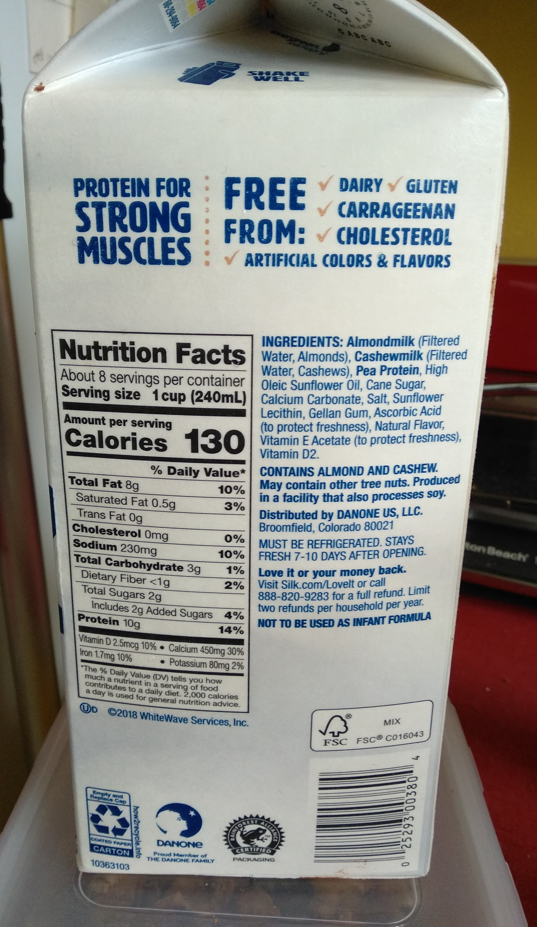 Protein & nutmilk - Nutrition facts - en
