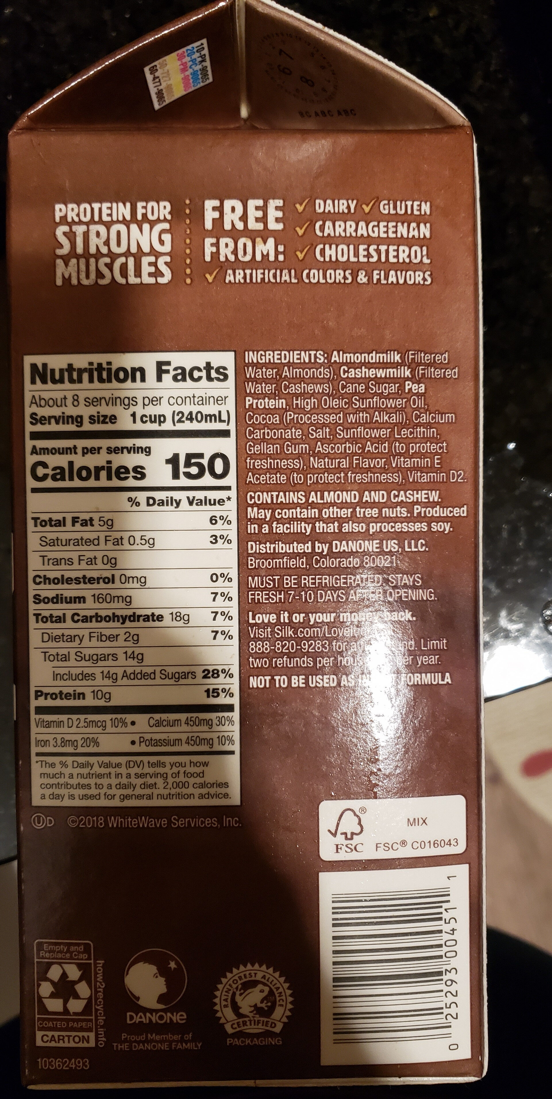 Chocolate Almond & Cashew Milk - Product