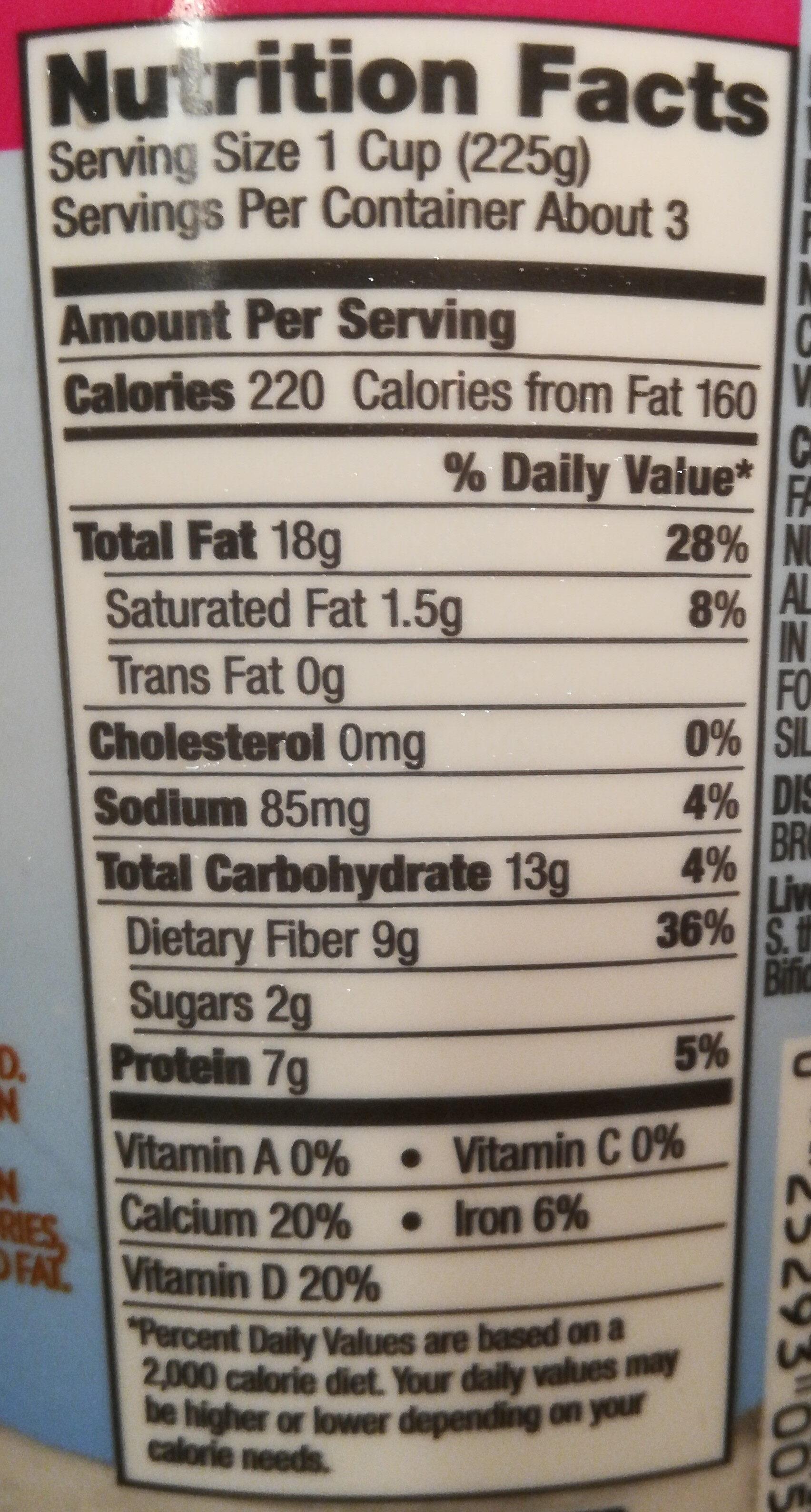 Silk Almondmilk Yogurt Alternative - Nutrition facts