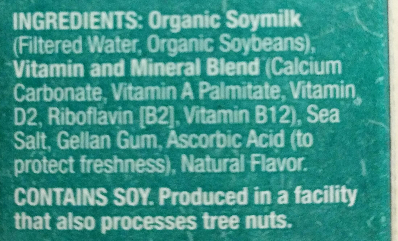 Organic soymilk - Ingredients - en