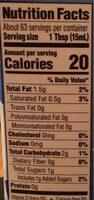 Soy creamer original - Nutrition facts - en