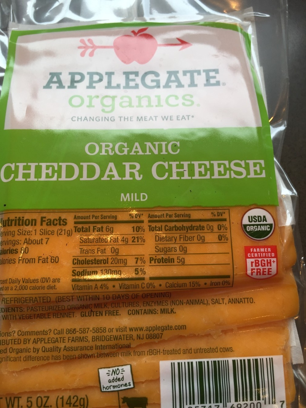 Applegate cheddar cheese - Product