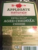 Applegate, extra sharp aged cheddar cheese - Product