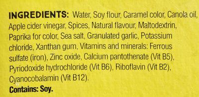 Plant-Based mince chorizo style - Ingredients