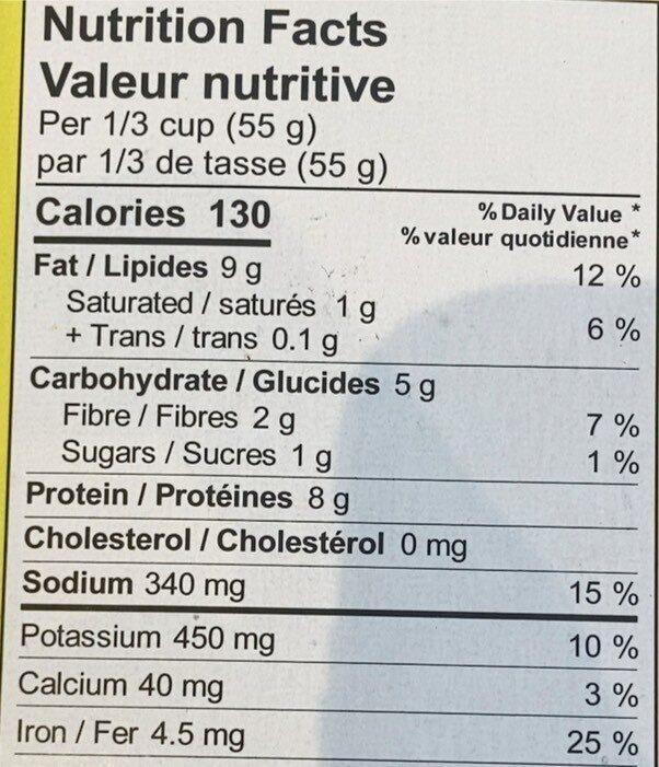 Émincé végétal Sty'e Chorizo - Informations nutritionnelles - en