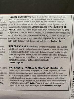 Festin des fêtes végétalien - Ingrédients - fr