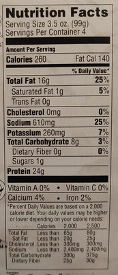 Original sausage beer brats - Nutrition facts - en