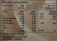 Tofurky Hickory Smoked Flavour Turkey Style Deli Slices - Nutrition facts - fr