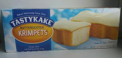Tastykake, krimpets sponge cakes, butterscotch - Product - en
