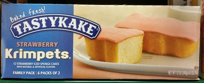 Tastykake, krimpets, iced sponge cakes, strawberry - Product - en