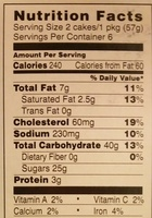 Tastykake, krimpets, iced sponge cakes, strawberry - Nutrition facts - en