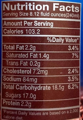 Mr Brown Iced Coffee Blue Mountain Blend - Nutrition facts