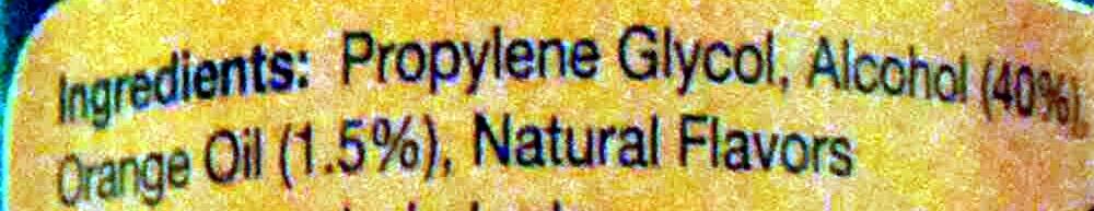 Orange blossom water - Ingredients
