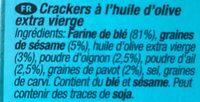 Flatbreads everything good grains crackers - Ingrédients - fr