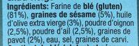 Good Grains Crackers - Ingredients - fr