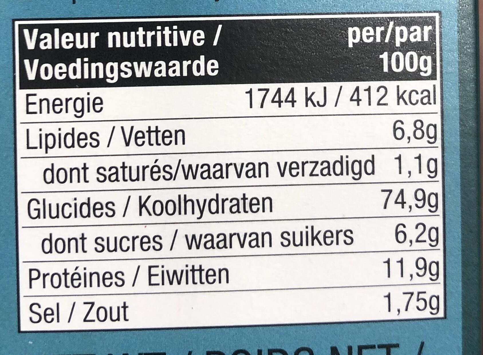 Good Grains Crackers - Nutrition facts - fr