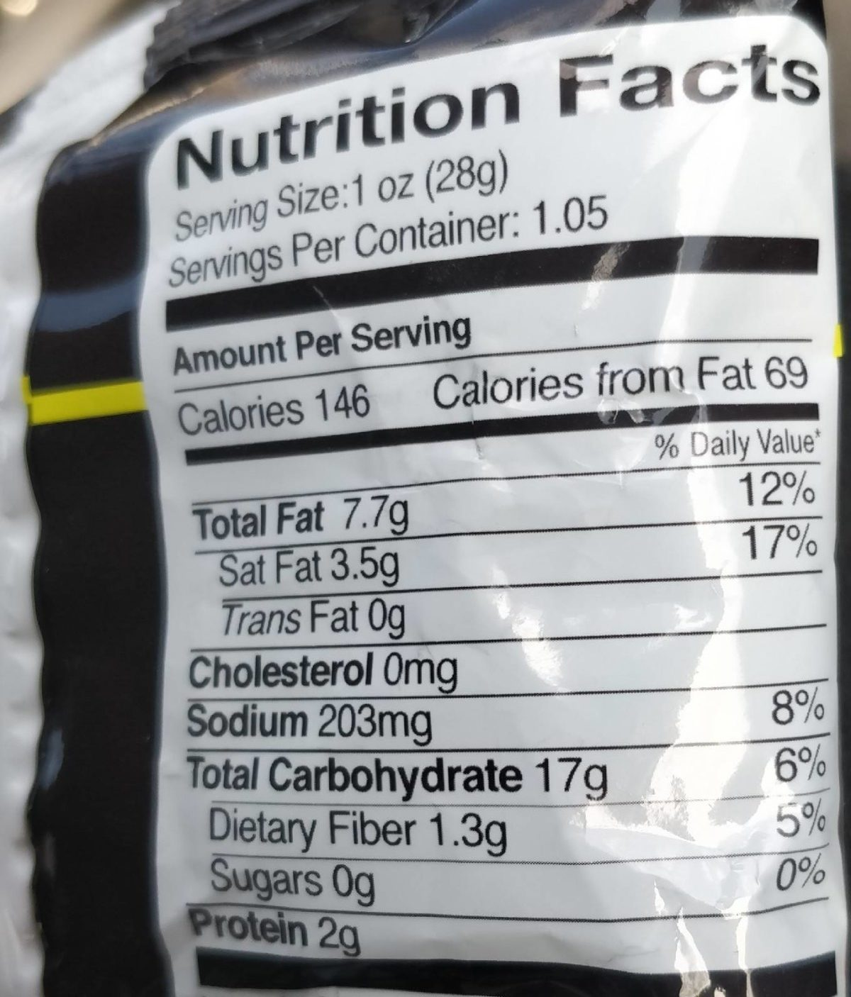 Noshkes Extreme Hot - Nutrition facts