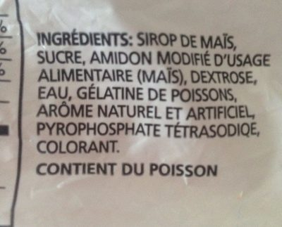 Paskesz Mini Marshmallows - Ingrédients - fr