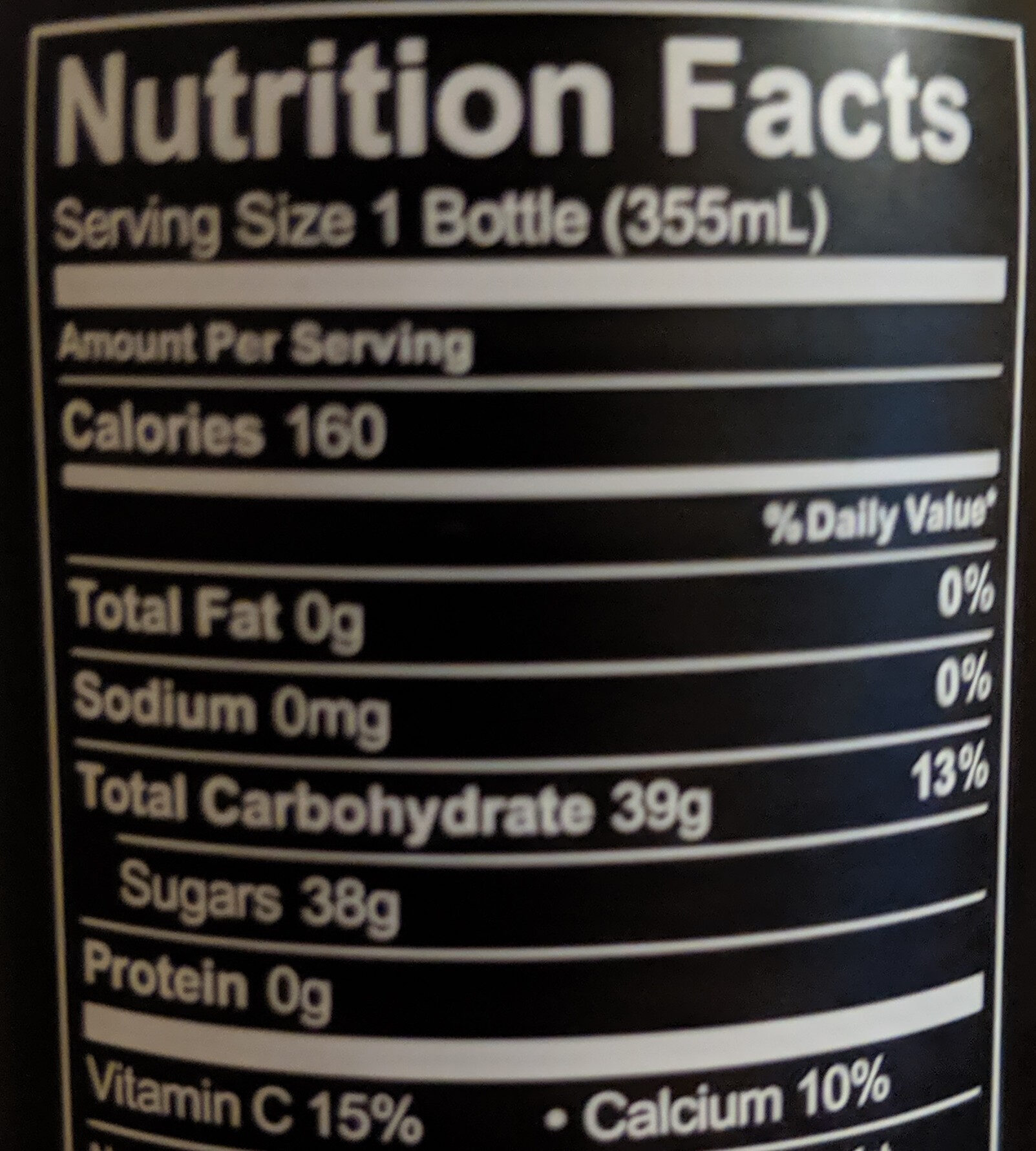 Original citrus energy drink, original citrus - Nutrition facts - en