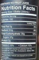 UpTime Blood orange - Informations nutritionnelles - en