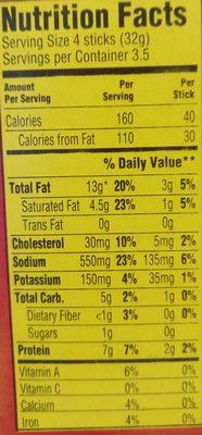 Slim Jim Original - Nutrition facts