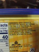 Vegetable oil spread - Ingrédients - en