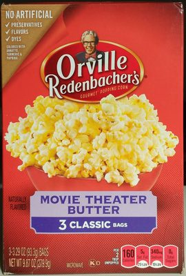 Movie theater butter microwave popcorn - Product - en