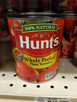 Hunt's Whole Peeled Plum Tomatoes, 28 oz, 28 OZ - Product - en