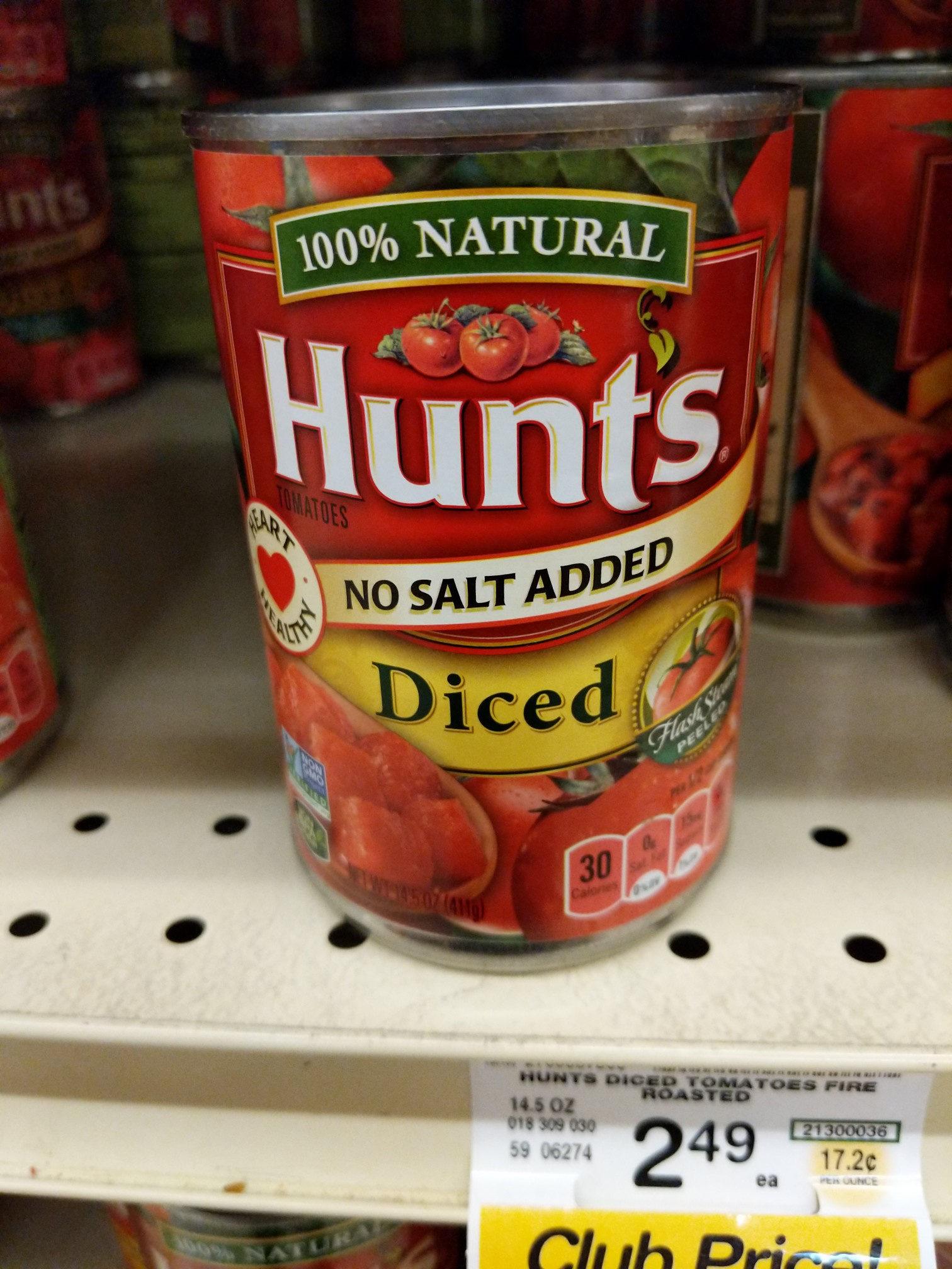 Hunt's Diced Tomatoes No Salt Added, 14.5 oz, 14.5 OZ - Product - en