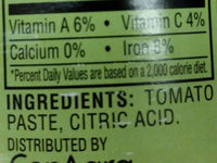 Hunt's Tomato Paste, 12 oz, 12 OZ - Ingredients - en