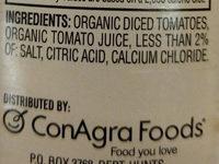 HUNTS Organic Diced Tomatoes - Ingredients - en