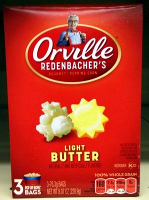 ORVILLE REDENBACHERS Light Butter Popcorn, 8.07 OZ - Produit - en