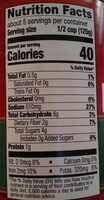 Premium pasta sauce - Información nutricional
