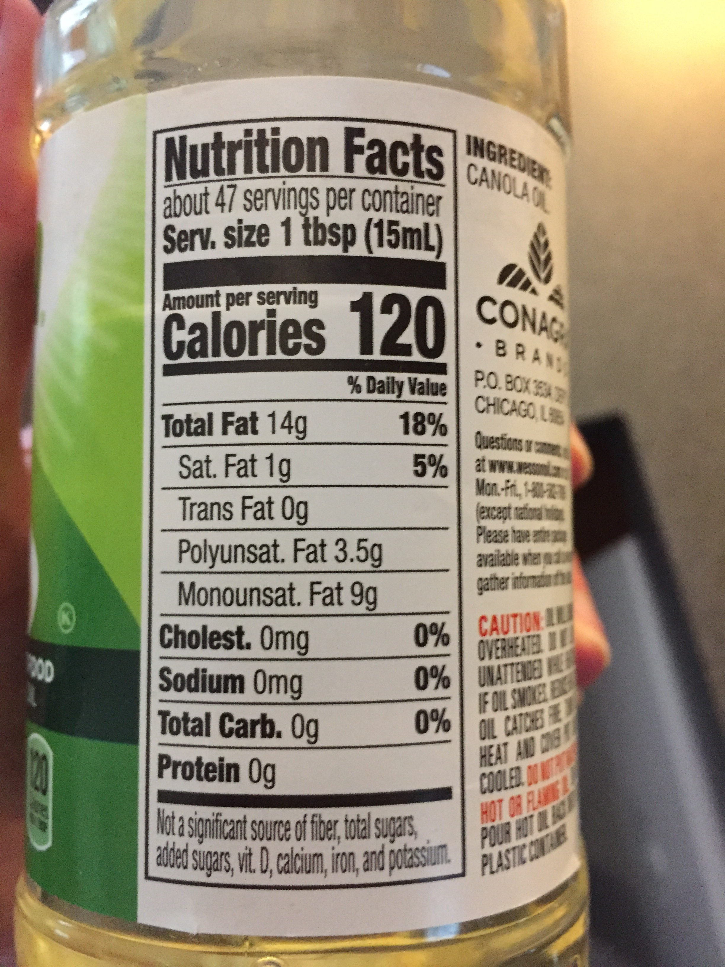 Canola Oil - Nutrition facts
