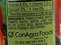 HUNTS No Salt Added Tomato Sauce, 15 OZ - Ingredients - en