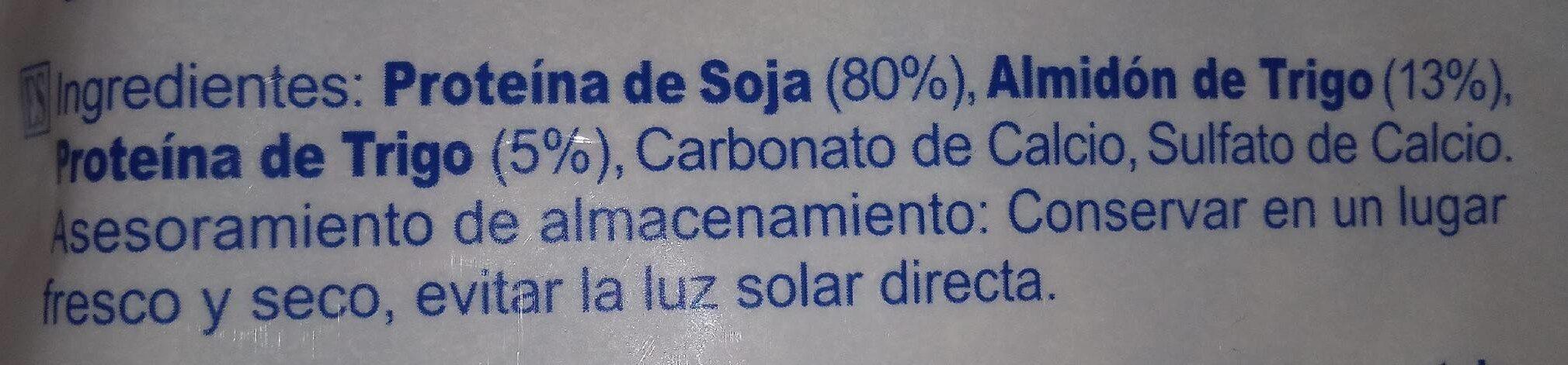 Proteita texturizada de soja - Información nutricional - es